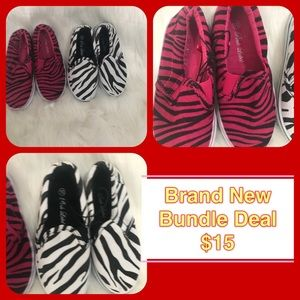 Other - Brand New trendy 2 Girl Sneakers Size 10